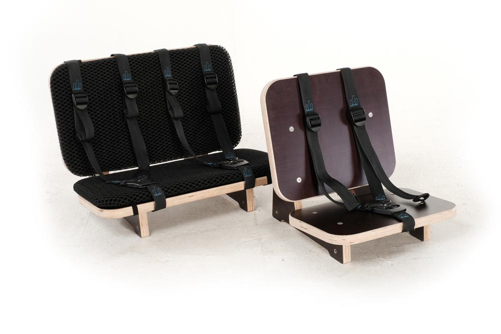Sièges passagers 1 ou 2 places enfants pour triporteur électrique familial ili classic 900 ou 750